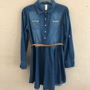 Size 20 Justice Chambray Dress.